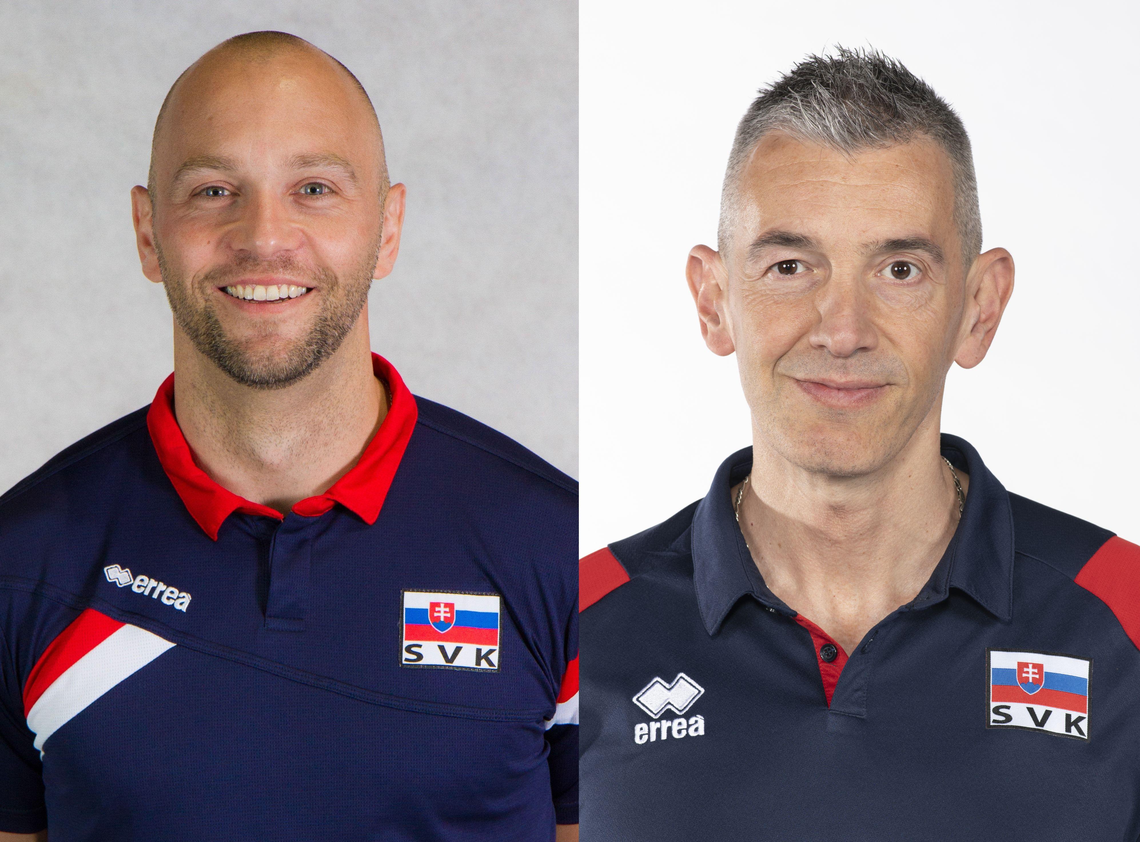 Marek Kardoš a Marco Fenoglio povedú naše reprezentácie. FOTO: SVF