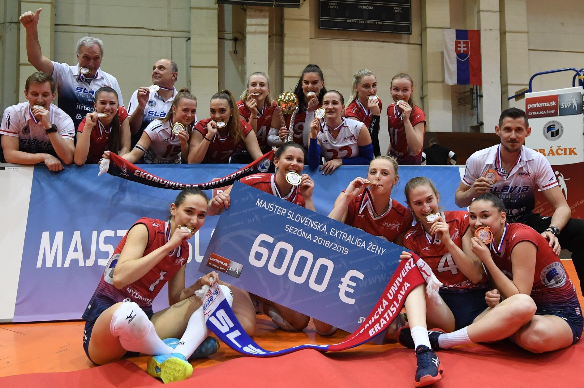 Slávia po Slovenskom pohári získala aj extraligový titul. FOTO: TASR